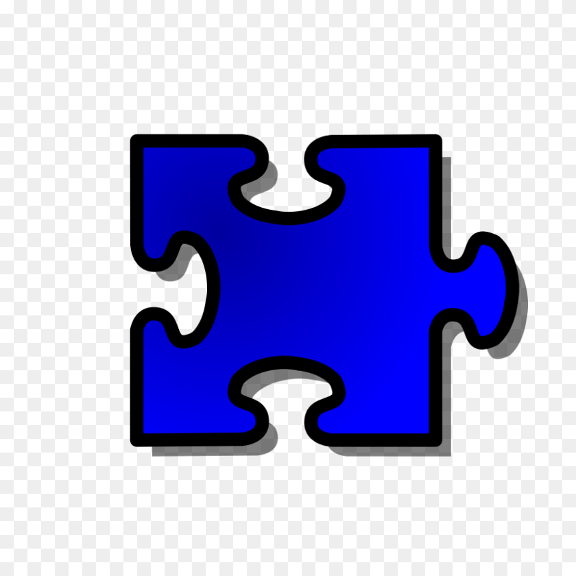 Free Clipart Blue Jigsaw Piece Nicubunu - 14 Clipart