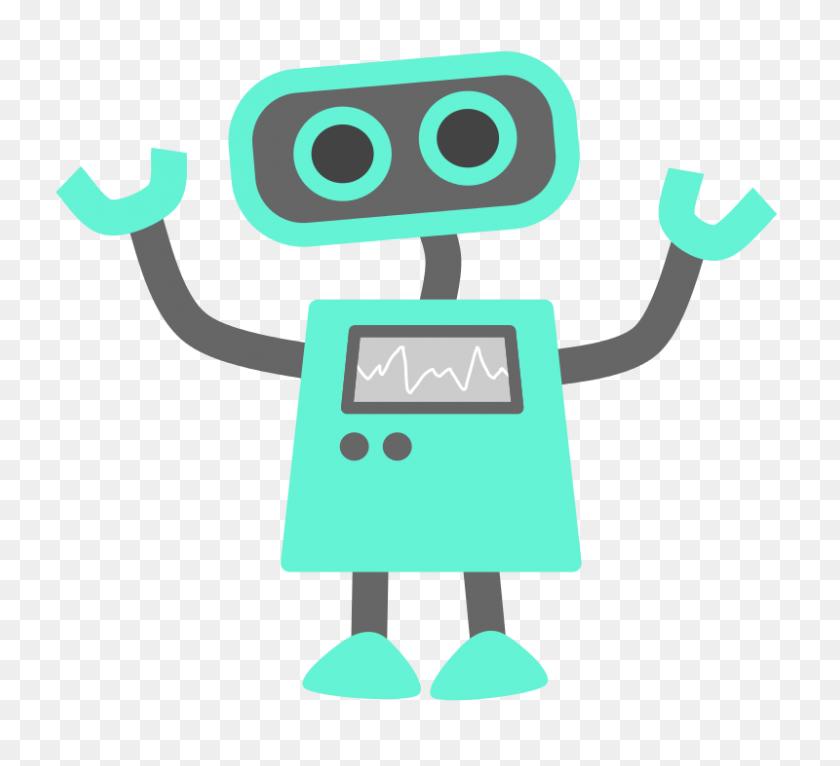 Free Clipart Blue Robot Scout - Scout Clipart