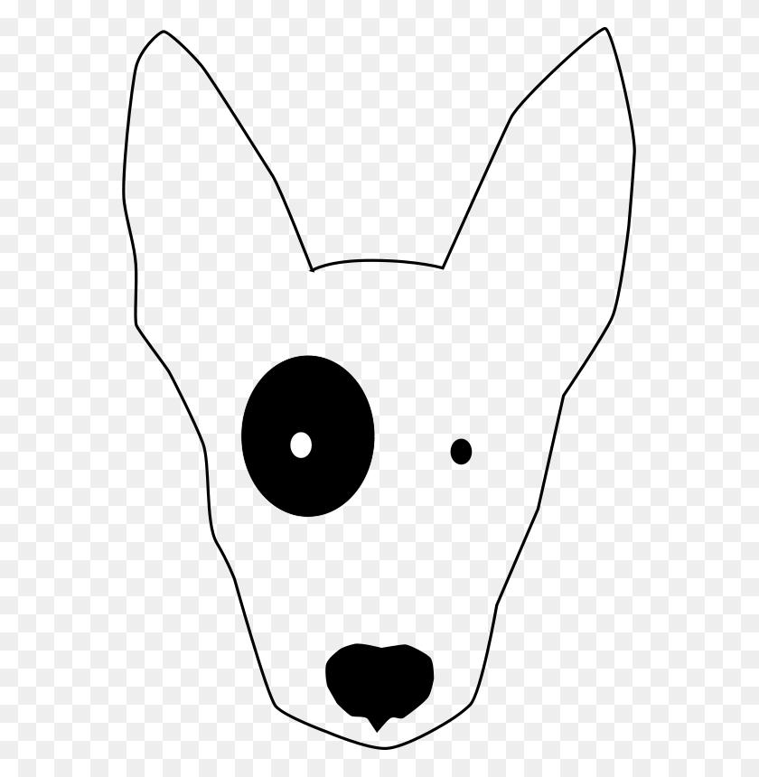 569x800 Free Clipart Bullterrier Head, Bujung,bull Terrier Cartoon,dog - Free Dog Clipart Black And White