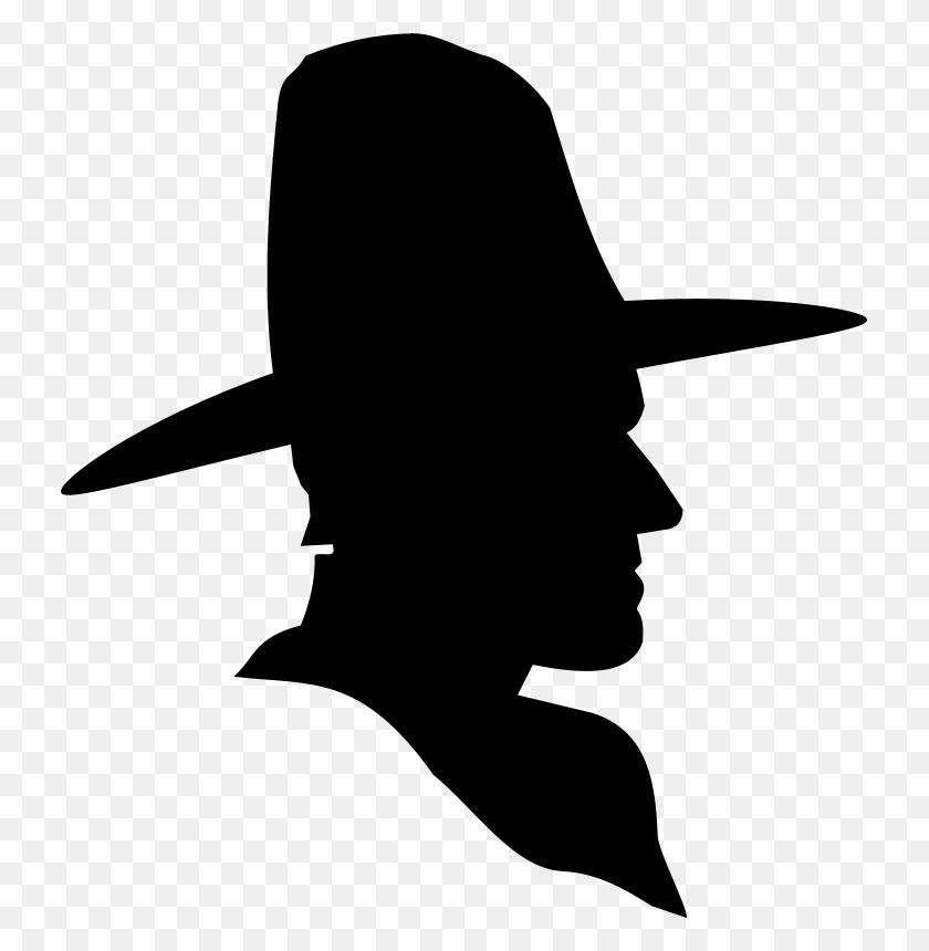 Free Clipart Cowboy Profile Silhouette Studio Hades - Profile Clipart