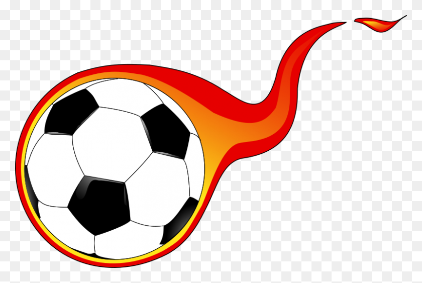 Free Clipart Flaming Soccer Ball Anonymous - Soccer Ball Clip Art Free