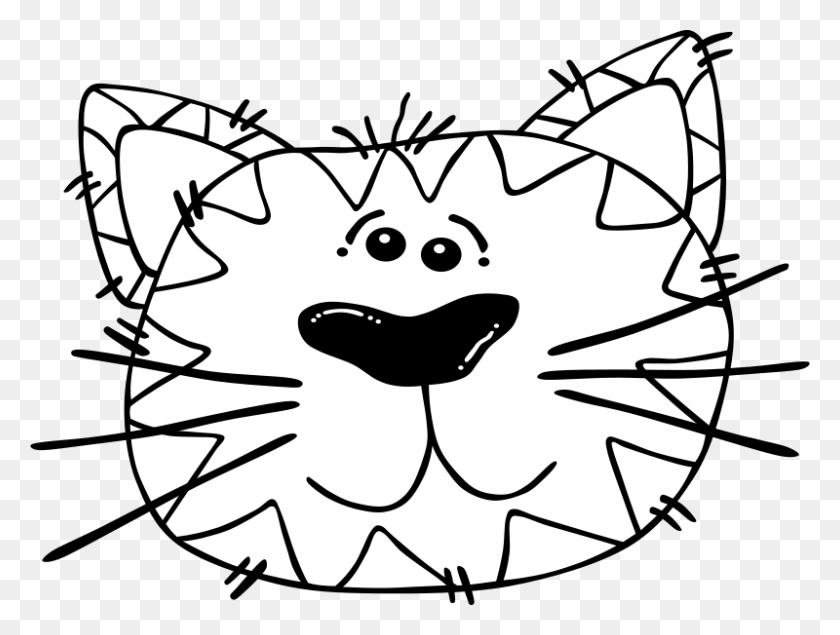 Free Clipart G Cartoon Cat Face Gerald G - Cartoon Cat Clip Art