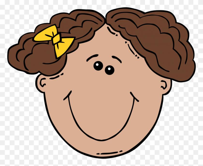 Free Clipart Girl Face Cartoon Gerald G - Cartoon Face PNG