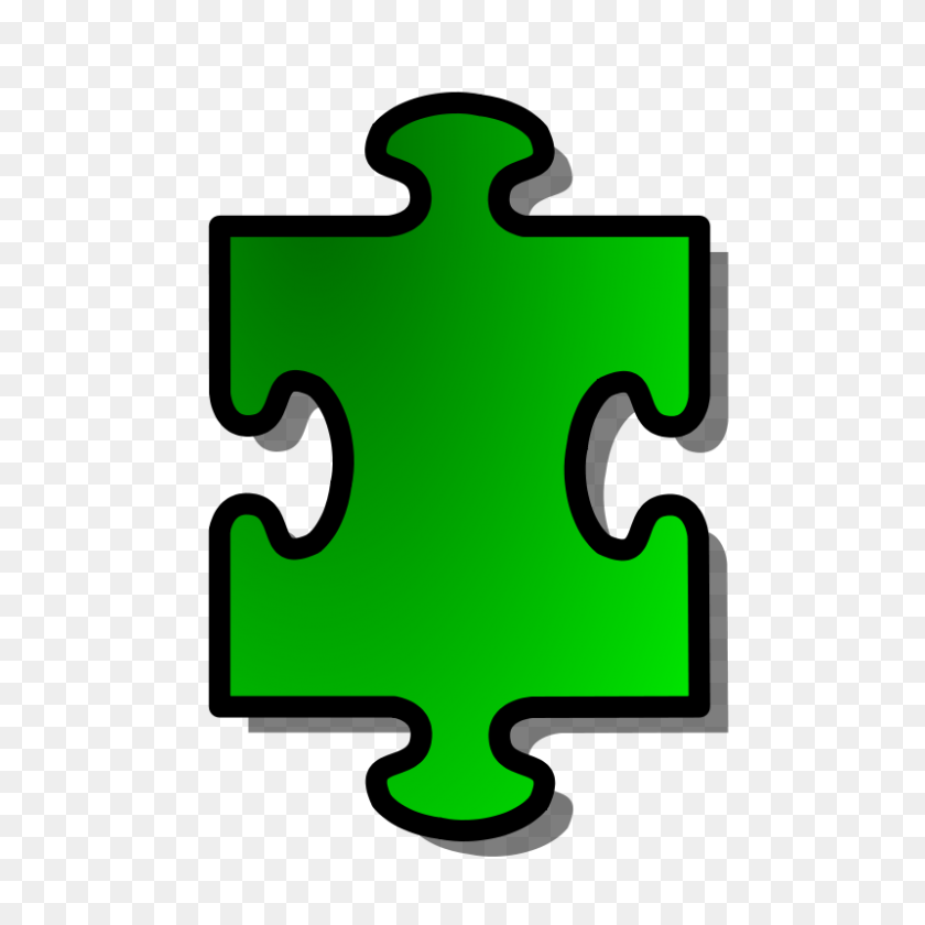 800x800 Free Clipart Green Jigsaw Piece Nicubunu - Free Clipart Puzzle Pieces