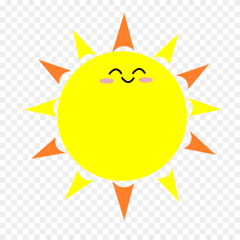 Free Clipart Happy Sun Pinkpuffball Pertaining To Animated Sun - Happy Sun PNG
