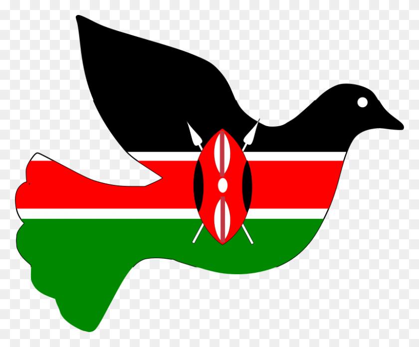 800x653 Free Clipart Kenya Peace Dove J Iglar - Free Clipart Dove Of Peace