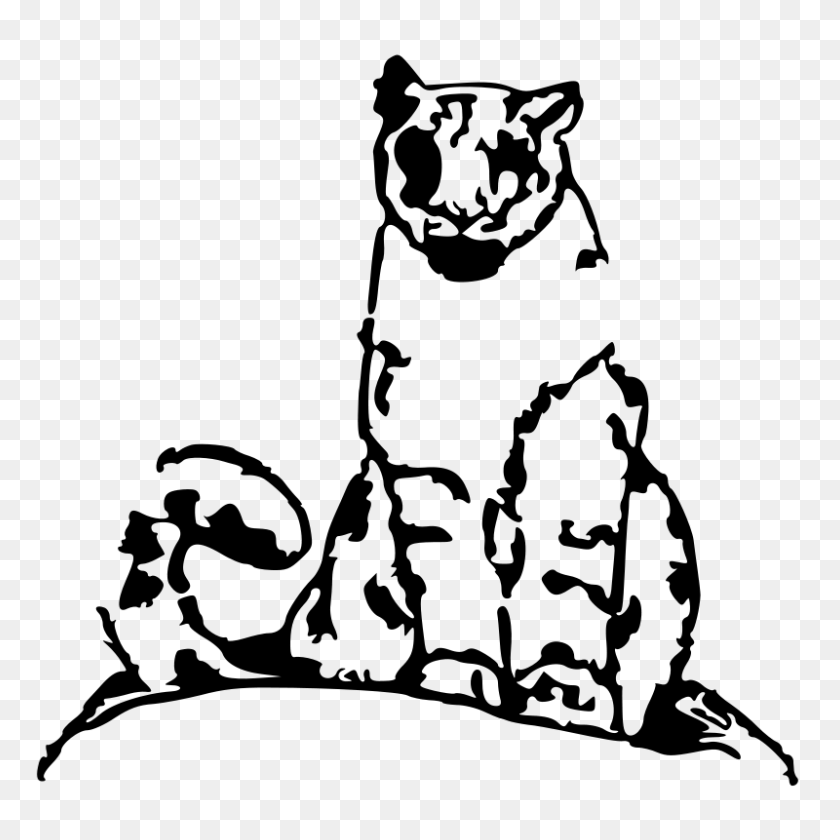 Free Clipart Leopard Pinksterpixie - Snow Leopard Clipart