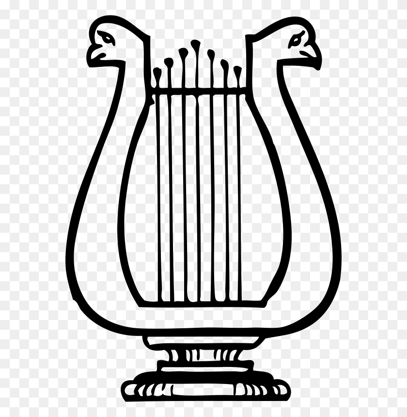 570x800 Free Clipart Lyre Johnny Automatic - Lyre Clipart