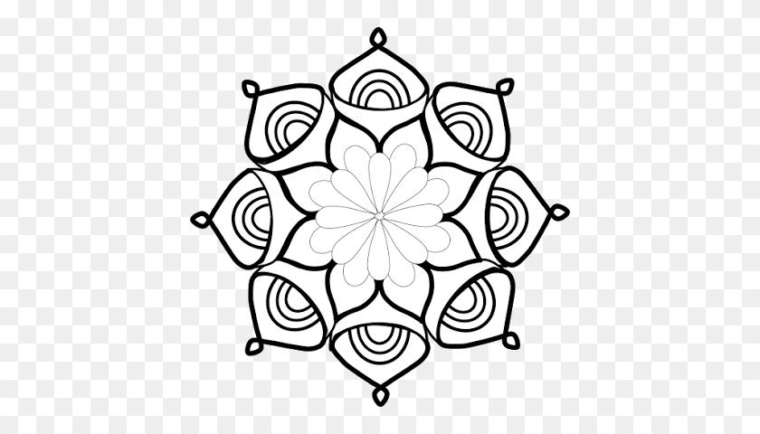 420x420 Free Clipart Mandala Series Meditations Affirmations - Mandala Clipart