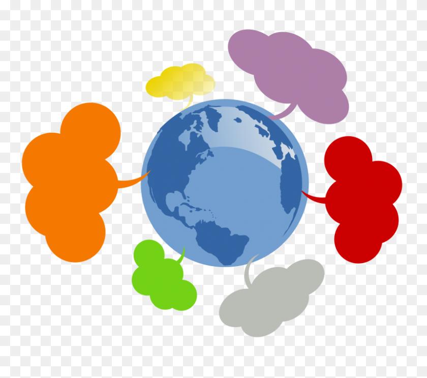 800x701 Free Clipart Mapa De Redes - Nonprofit Clipart