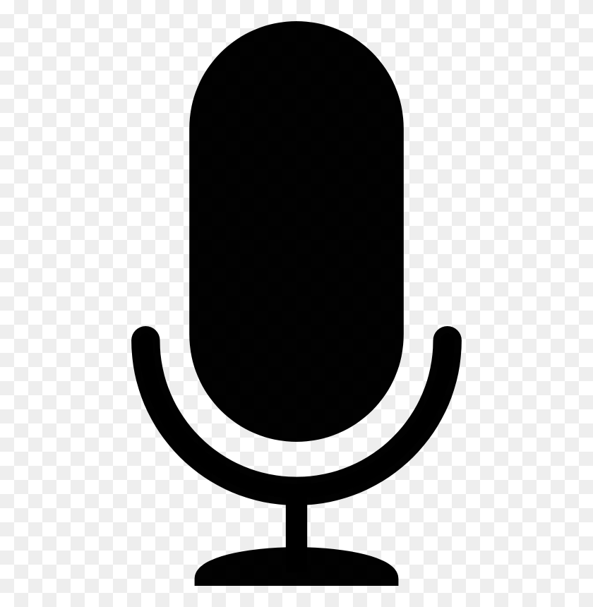 Free Clipart Mic Icon Upacesky Microphone Clipart Black