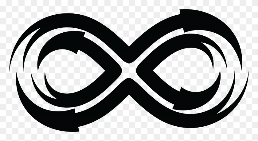 Free Clipart Of A Black And White Arrow Infinity Symbol - To Infinity And Beyond Clipart
