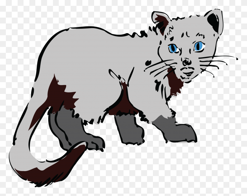 Free Clipart Of A Gray Cat - Gray Cat Clipart