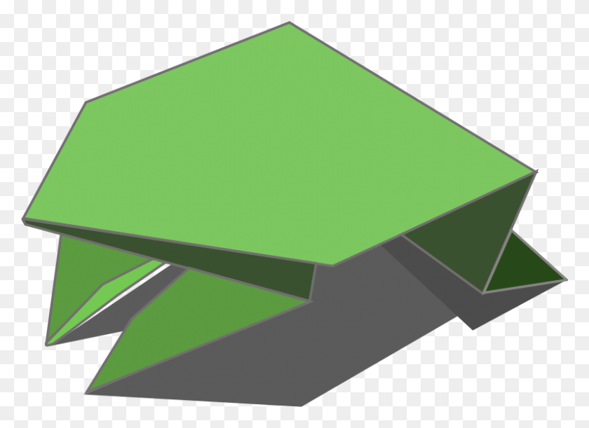 Free Clipart Origami Jumping Frog Iyo - Jumping Frog Clipart