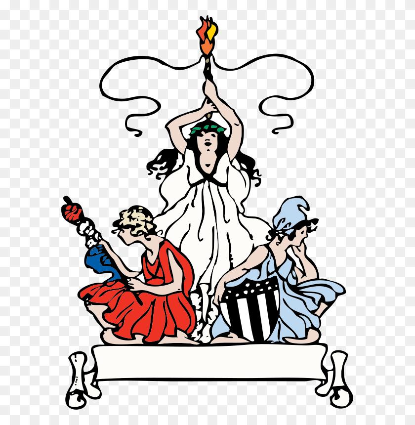Free Clipart Patriotic Women Johnny Automatic - Patriotic Banner Clipart