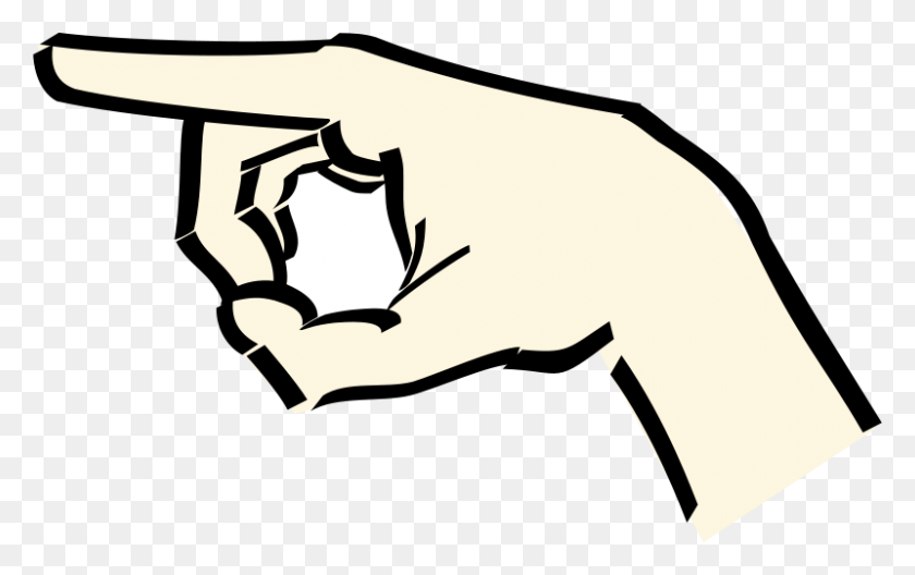 Free Clipart Pointing Hand Anonymous - Pointing Hand Clipart