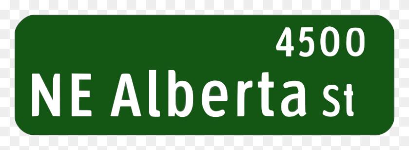 Free Clipart Portland Oregon Street Name Sign Ne Alberta St - Oregon Clip Art