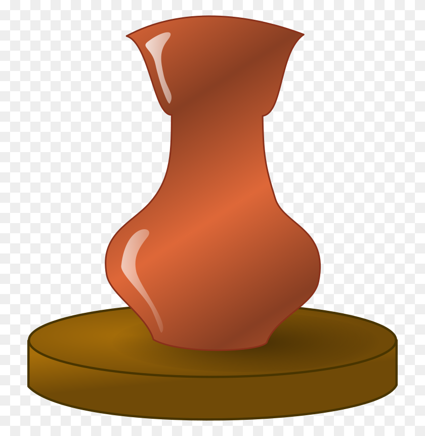 732x800 Free Clipart Pottery - Artifact Clipart