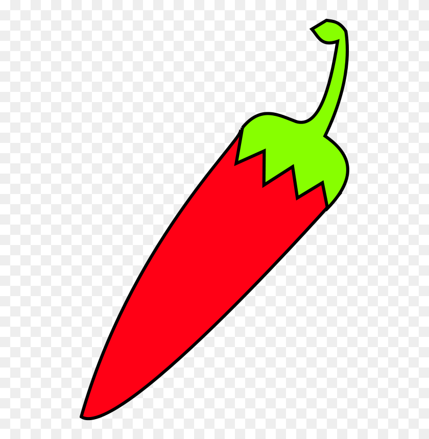528x800 Free Clipart Red Chili With Green Tail Sebek - Tail Clipart