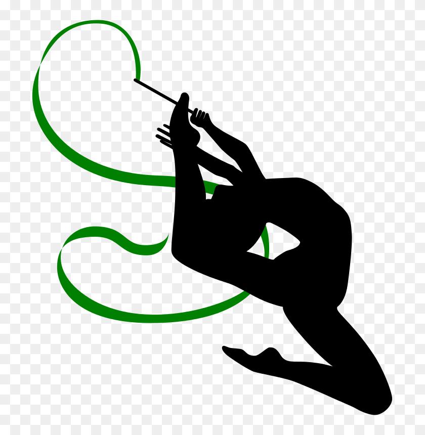 Free Clipart Rhythmic Gymnastics With Ribbon - Free Gymnastics Clipart