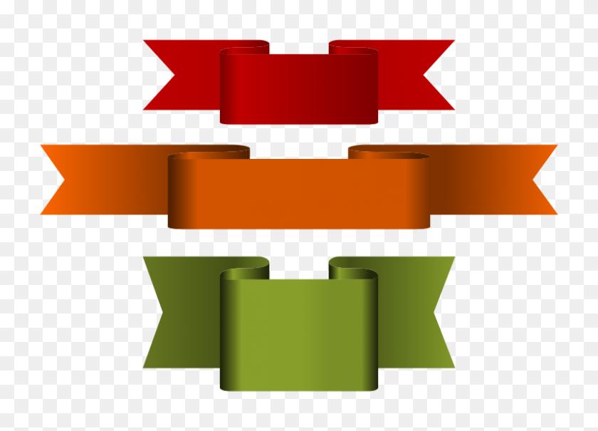 Free Clipart Ribbons Pomprint - Ribbon Banner Clipart