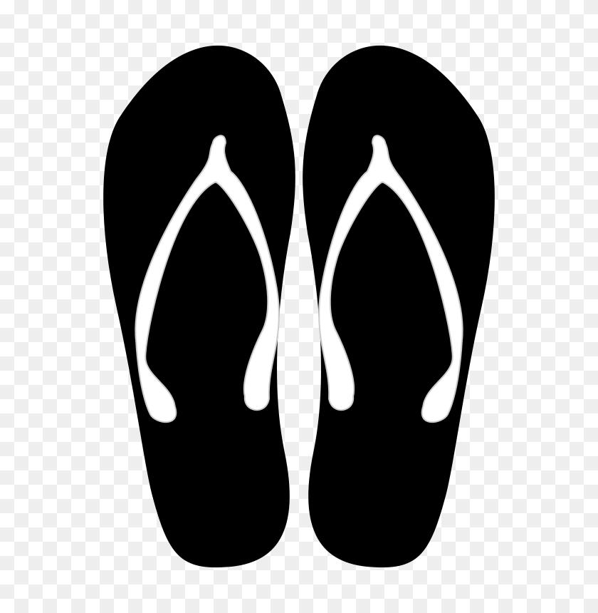 600x800 Free Clipart Sandalias Solvera Fllp Flops - Flip Flop Clip Art Free
