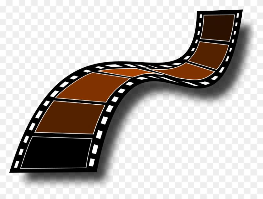 Free Clipart Sepia Film Strip Trinitysquare - Film Strip Clipart