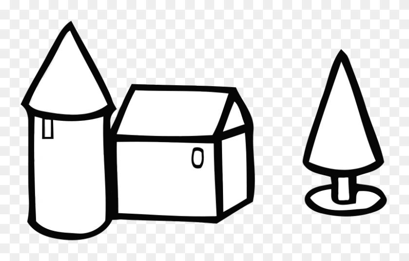 800x489 Free Clipart Simple Farm House - Free Farm Clip Art