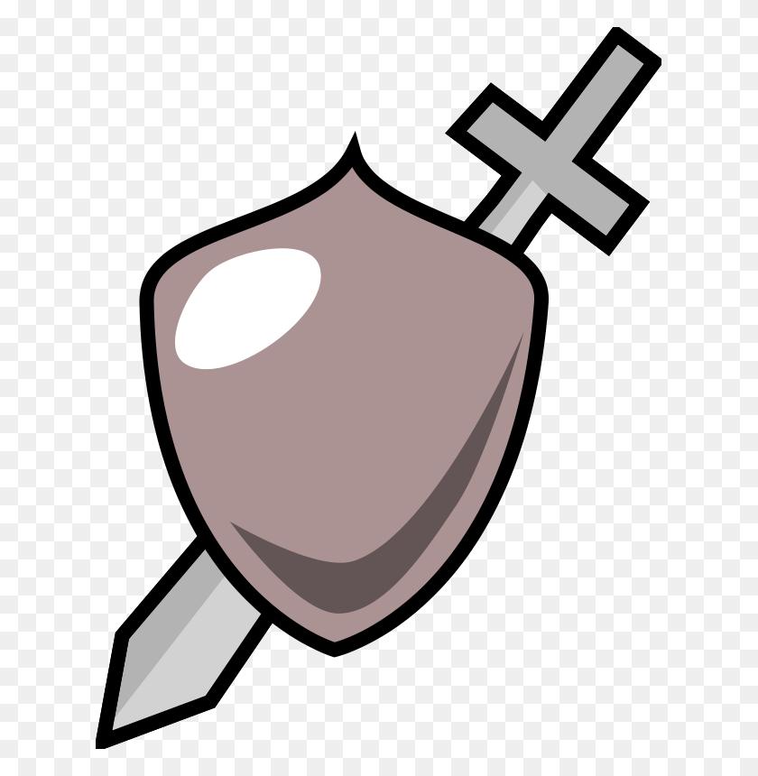 Free Clipart Sword And Shield Icon Purzen - Shield Clipart Free