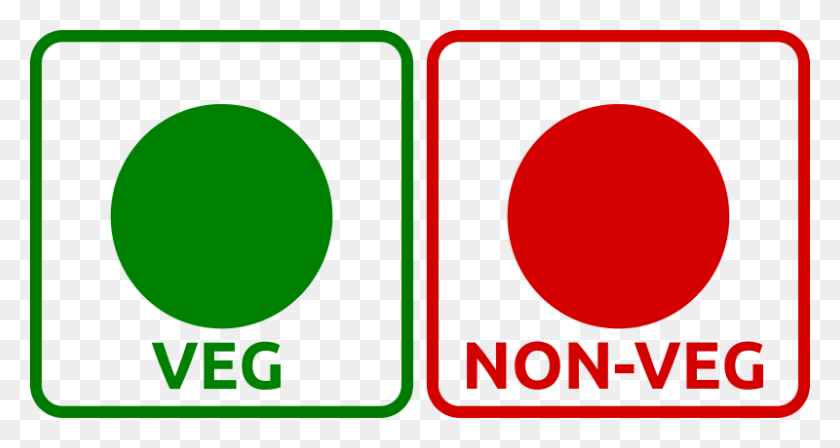 Free Clipart Veg Non Veg Icon - Vegetarian Clipart