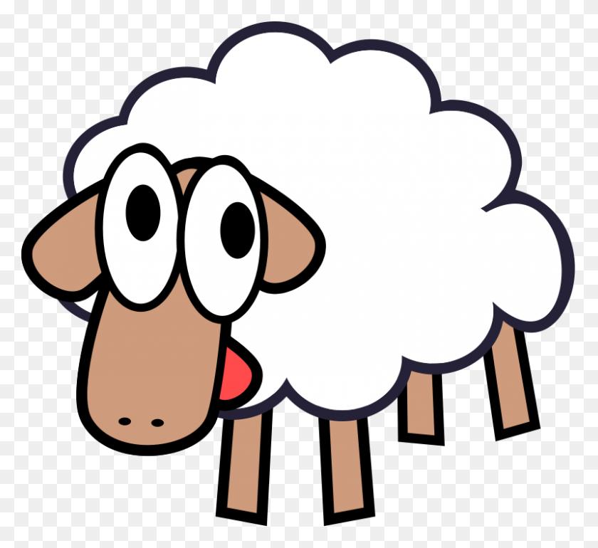 Free Clipart White Stupid Cute Cartoon Sheep Qubodup - Sheep Clipart