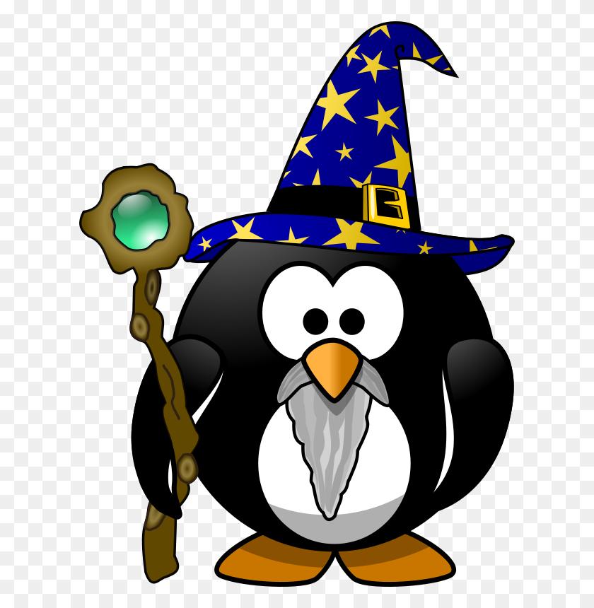 Free Clipart Wizard Penguin Moini - Wizard Clipart