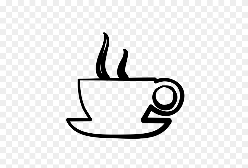 Free Coffee Cup Clip Art - Time Clipart Black And White