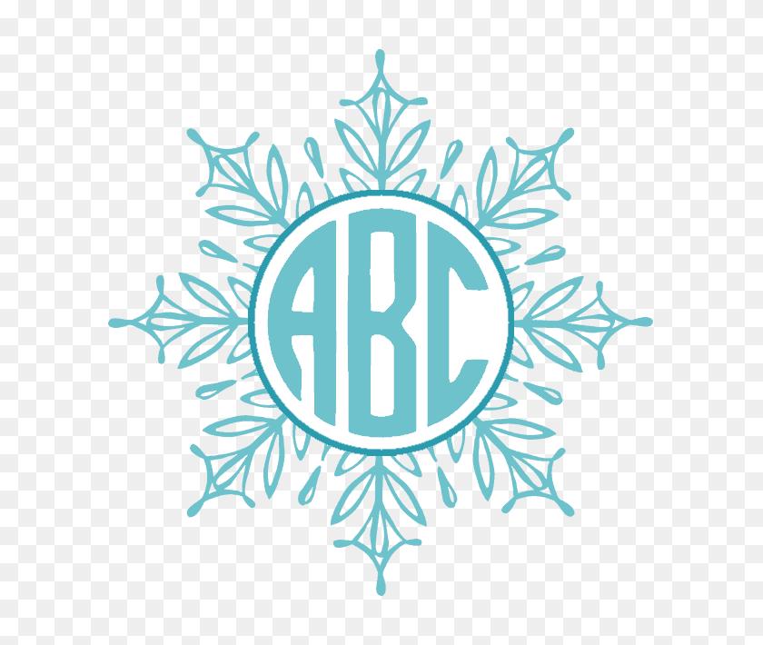 Free Custom Snowflake Monogram Customize Online - Snowflake Border PNG