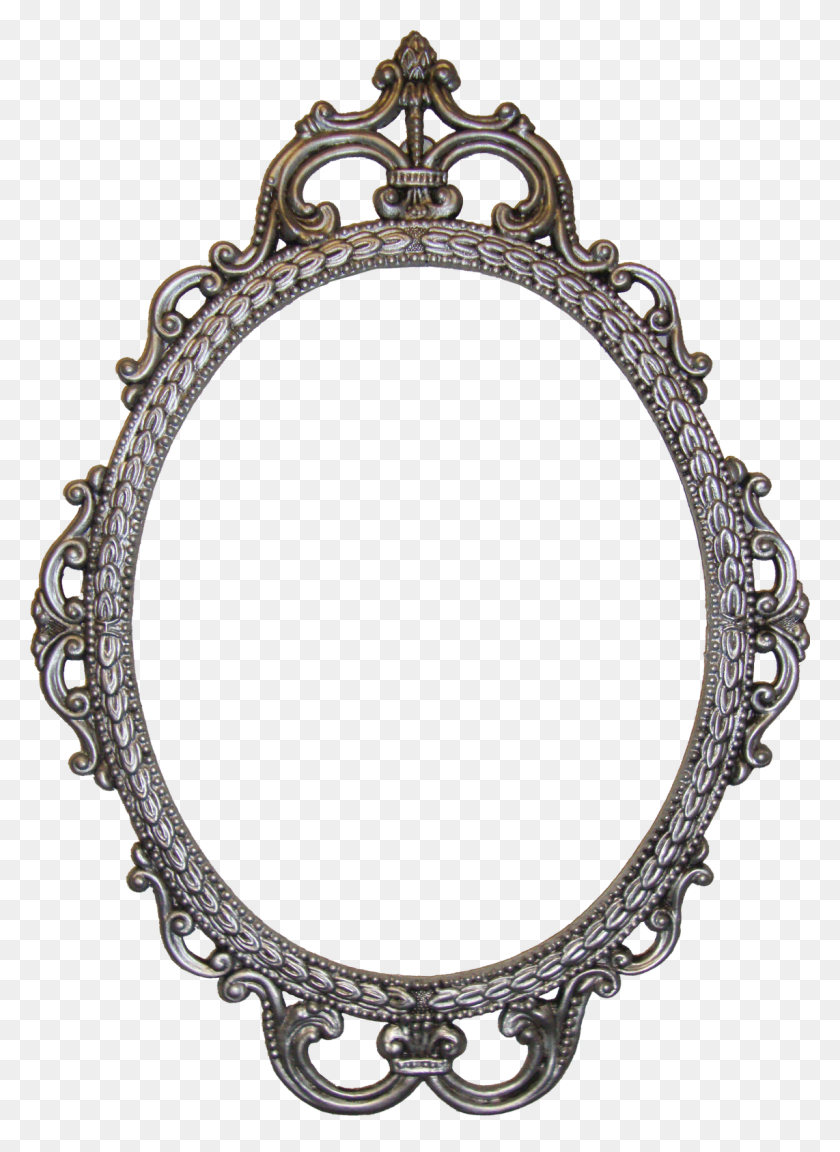 Free Digital Antique Photo Frames! Pretty Planner - Oval