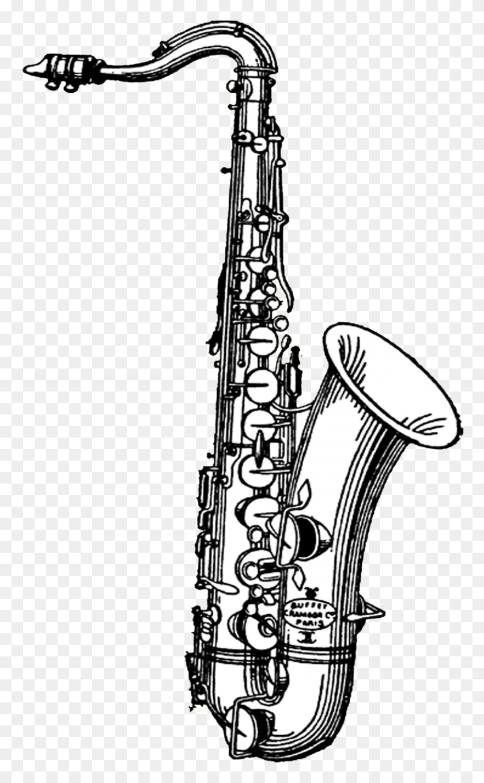 Free Digital Stamps Free Vintage Digital Stamps Free Digital - Saxophone Clipart Black And White
