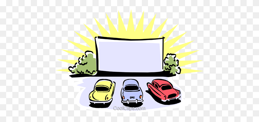 Free Drive In Cinema Sign Free Download Clip Art - Movie Night Clipart