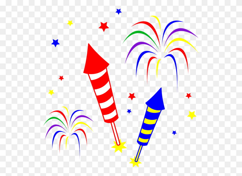 542x550 Free Firework Clip Art Pictures - Free Clipart New Years 2017
