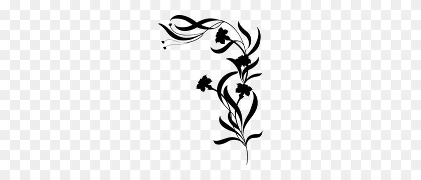 Free Floral Decoration Clip Art - Flower Clipart Silhouette