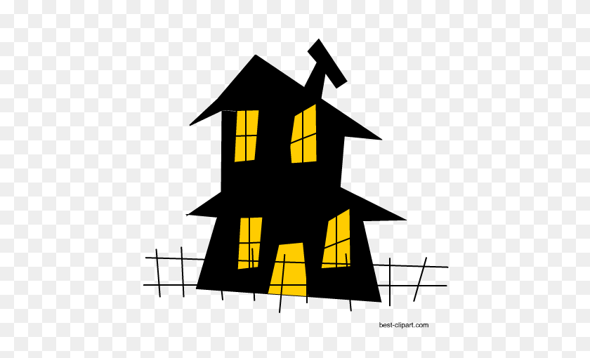 Free Halloween Clip Art - Old House Clipart