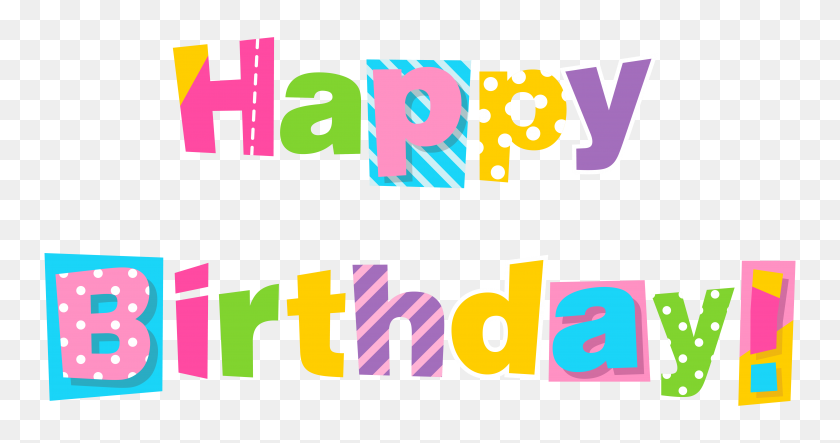 6332x3114 Free Happy Birthday Clipart Greeting