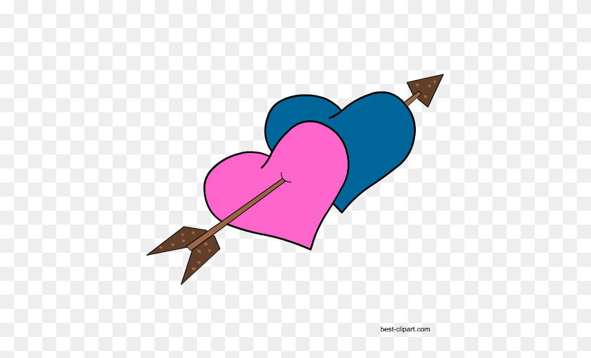 450x450 Free Heart Clip Art Images And Graphics - Arrows With Hearts Clipart