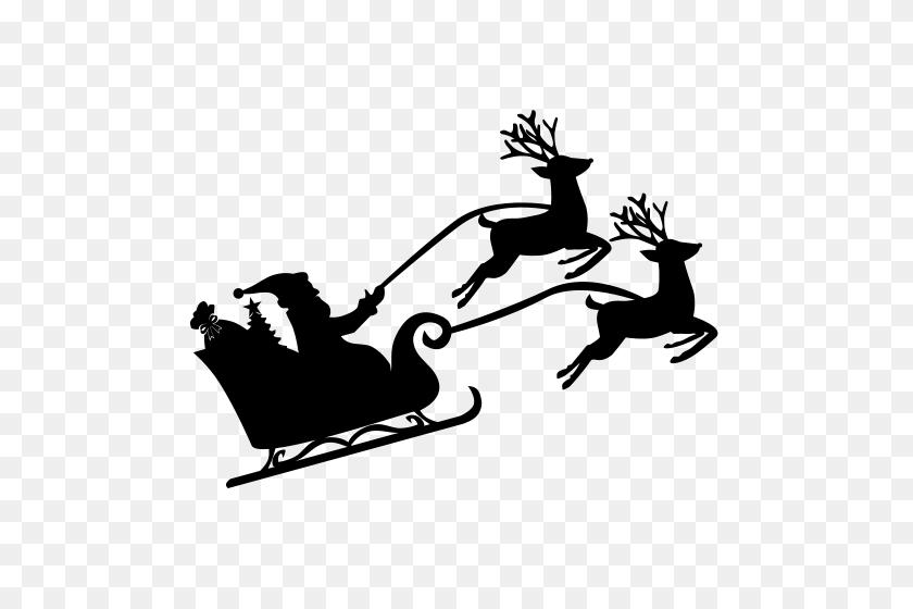 Free Icon Sleigh Icon - Santa And Sleigh Clipart