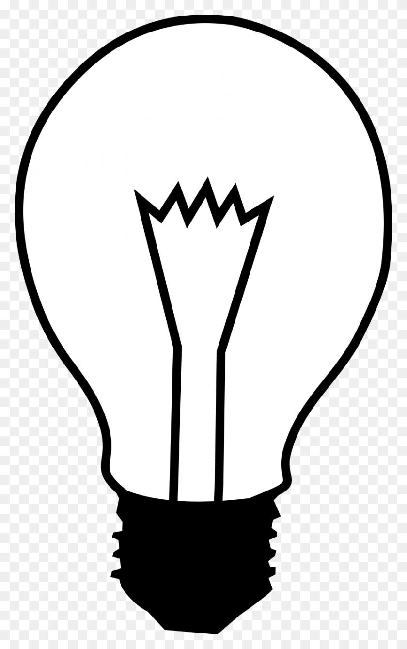 Free Lightbulb Clipart - Frankenstein Clipart Black And White