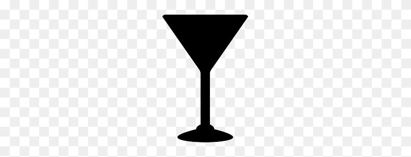Free Martini Glass Silhouette Silhouettes - Martini Glass Clipart