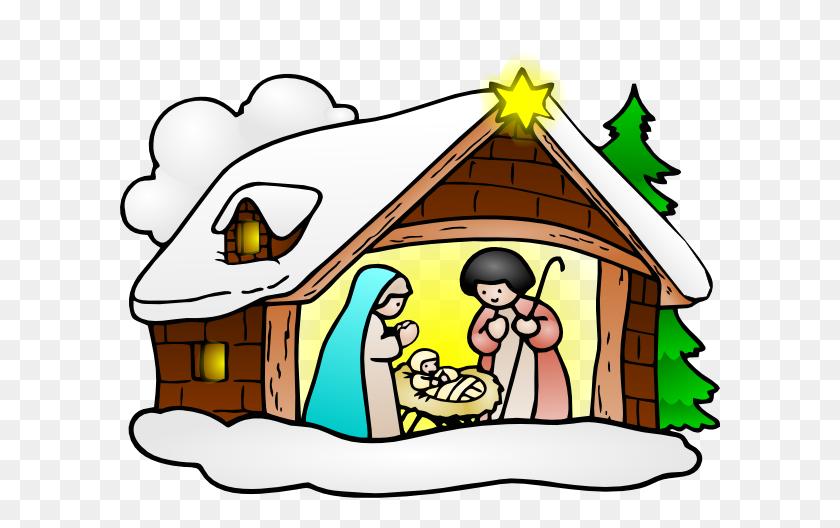Free Nativity Clipart Black And White - Nativity Clipart Black And White