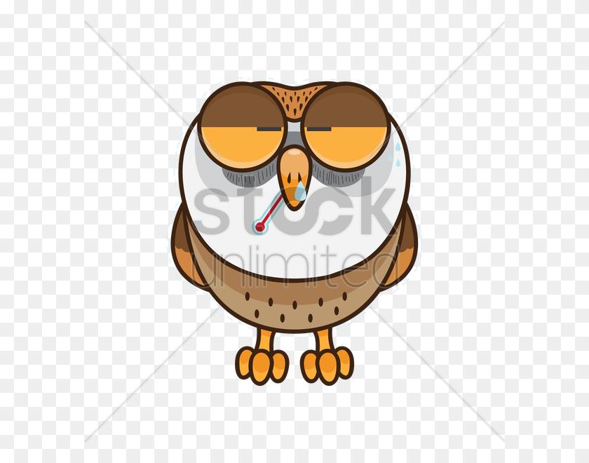 Free Owl Feeling Sick Vector Image - Feeling Sick Clipart