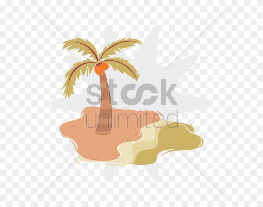 Free Palm Tree And Beach Vector Image - Palm Tree Beach Clip Art