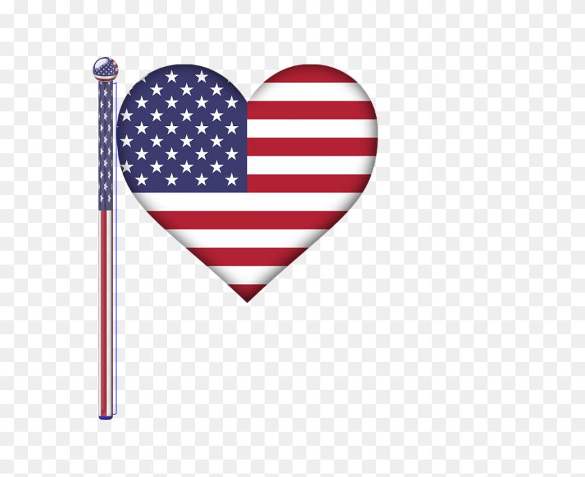 Free Photo Flag Pole Glossy Art America Usa Flag Heart - Flag Pole PNG