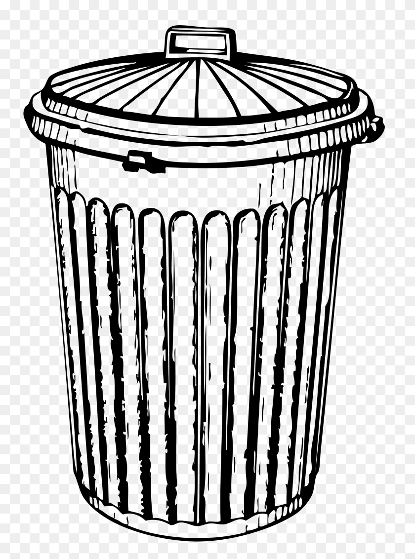 Free Pictures Of Garbage Cans - Theatre Clipart Black And White